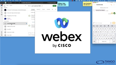 SMS texting with Webex - Tango Networks