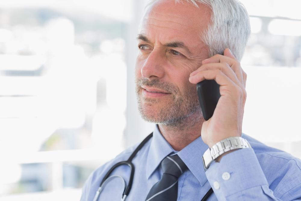 Handsome doctor calling-1